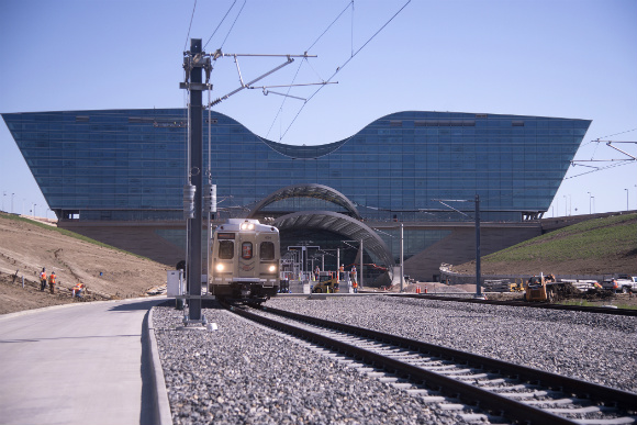 Commuter rail will start running to DIA on April 22, 2016.