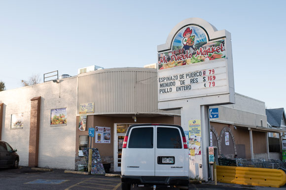There are a number of small Latino markets, but Barnum lacks a supermarket.