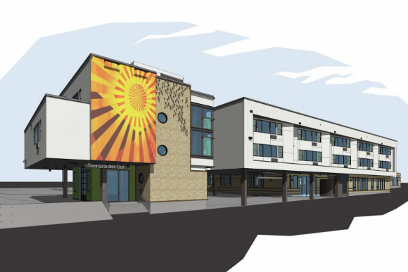 A rendering of Mi Casa Resource Center's new HQ in Westwood.