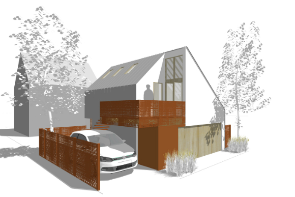 This Alleyflats Design Features 375 Square Feet Of E Above The Homeowner S Two Car Garage