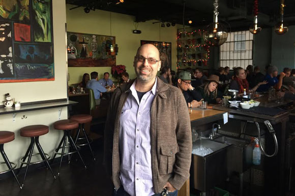 Justin Cucci of Linger and Root Down has lived in LoHi for nine years.