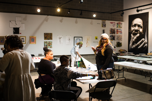a standard weekly community studio program that happens every Tuesday inside RedLine from 1-4 p.m.