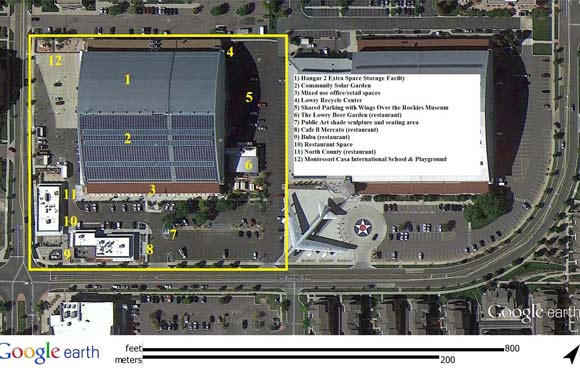 Google Earth site plan of Hangar 2.