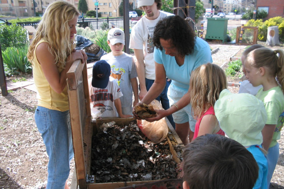 A worm composting program from Denver Public Works and Denver Urban Gardens.