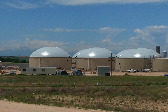 The anaerobic digester near LaSalle is one of the world's largest.
