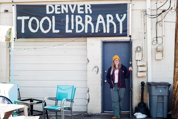 Sarah Steiner co-founded the Denver Tool Library with Cody Noha in 2015.