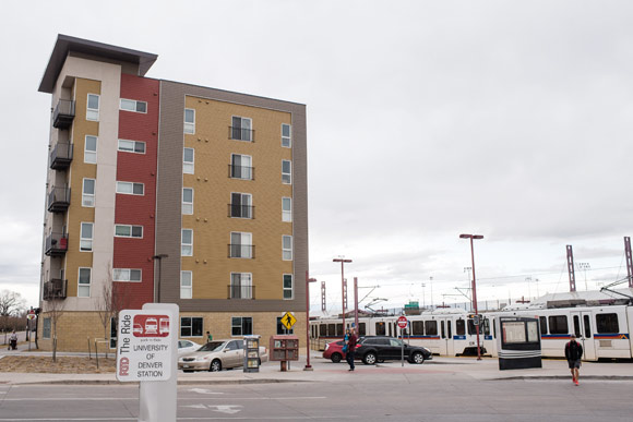 University Station is affordable housing built by Mile High Development and Koelbel and Company.