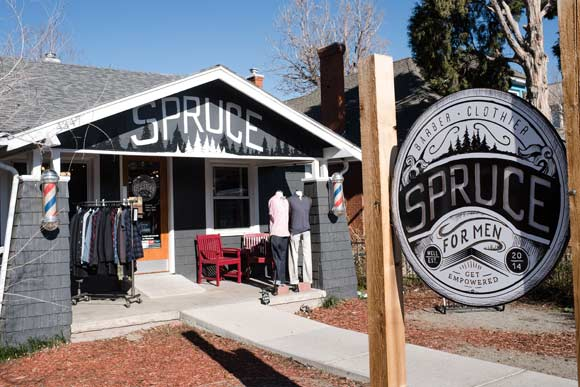 Spruce Barber and Clothier.