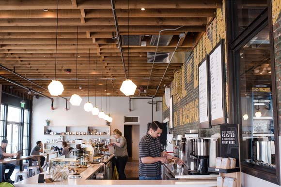 Allegro Coffee Roasters Tennyson's new 4,000-square-foot space.