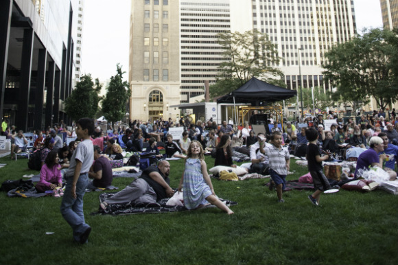 Summer movies and other events have activated downtown parks.