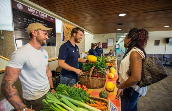 Veterans grow and sell fresh produce in partnership with Denver Botanic Gardens.