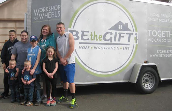 Be the Gift helps a single mom with the Workshop on Wheels program.