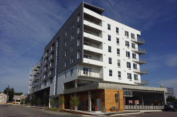 Avondale Apartments anchors the Mile High Vista development on West Colfax Avenue.
