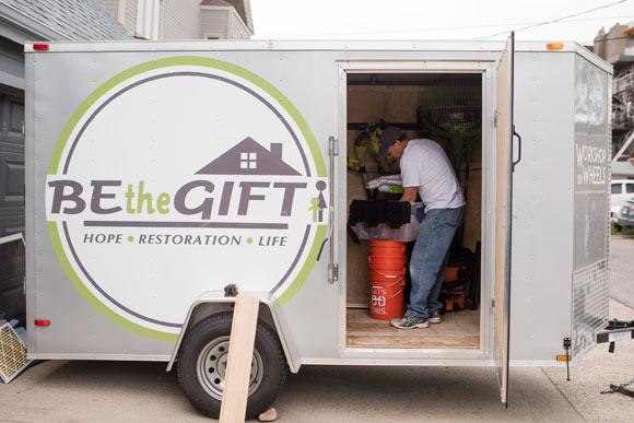 With three trailers, Be the Gift will be able to tackle three projects every weekend.