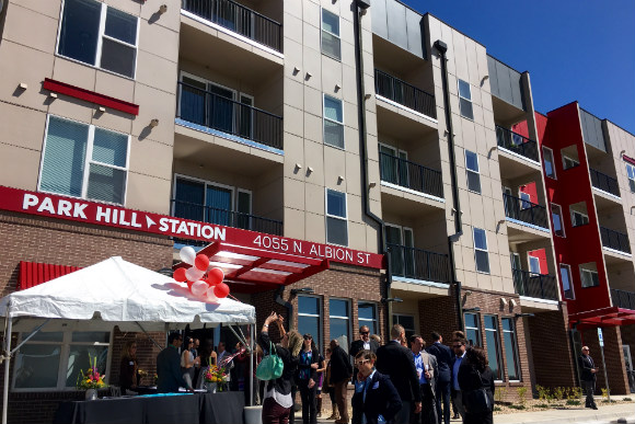 Park Hill Station Apartments is the first phase of Park Hill Village West.