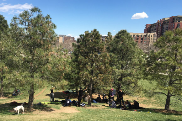 Stoner Hill in Commons Park is a gathering place for homeless youth in Denver.