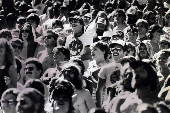 Grateful Dead entranced fans at Red Rocks in 1985 in a Rocky Mountain News file photo.