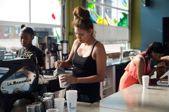 New employees are paid the industry average for baristas.
