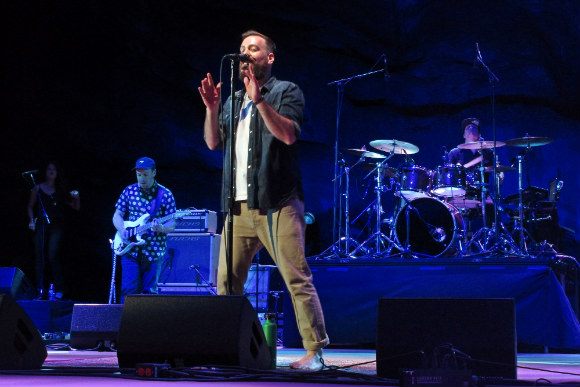 The Motet performs during the group's first headlining gig at Red Rocks.