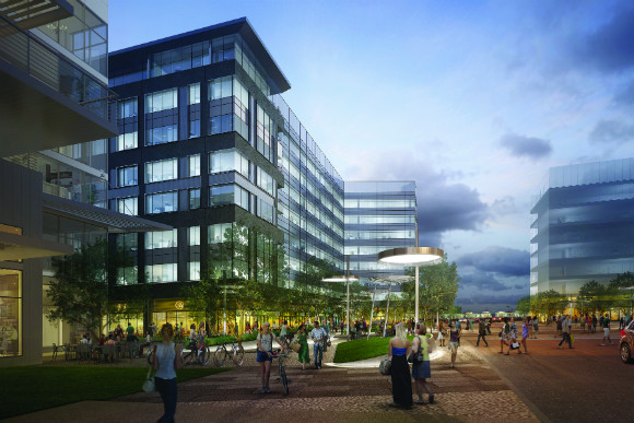 Forest City sees an office-centric TOD project for Central Park Station.