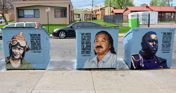Birdseed Collection painted over 50 dumpsters in Sun Valley.