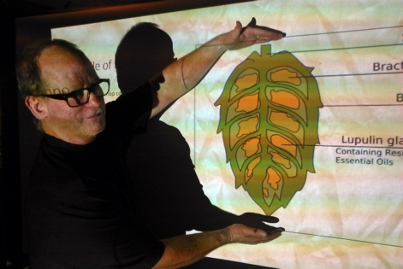 Brewer Bob Malone discusses hop anatomy.