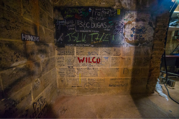 The backstage at Red Rocks is full of lore -- and graffiti.