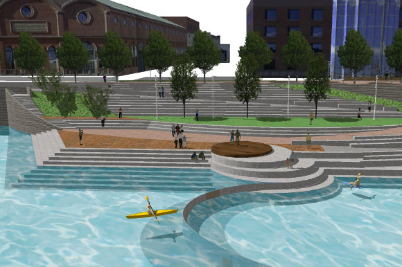 After a delay, the new Confluence Park will be ready by fall 2017.