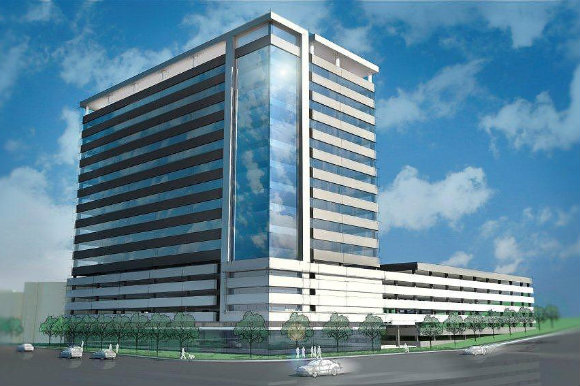 The 318,000-square-foot office building opens in early 2017.