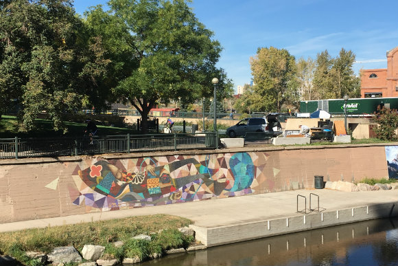 Cherry Creek mural by Pedro Barrios and Jaime Molina.