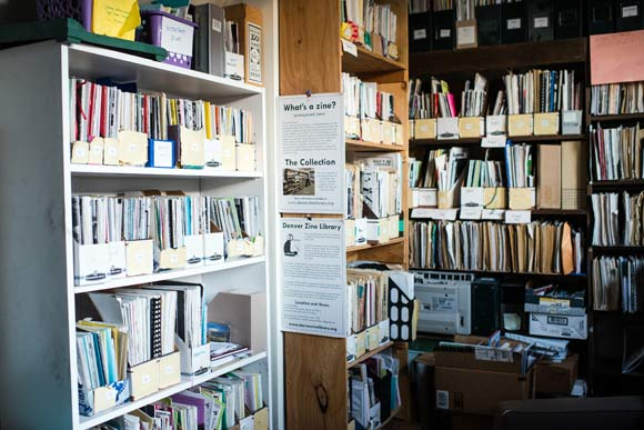 The Denver Zine Library is one of The Temple's resident nonprofits.