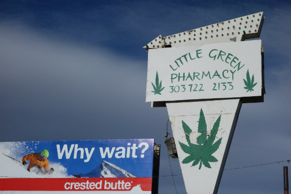 There are about 20 marijuana dispensaries on a two-mile stretch of South Broadway.
