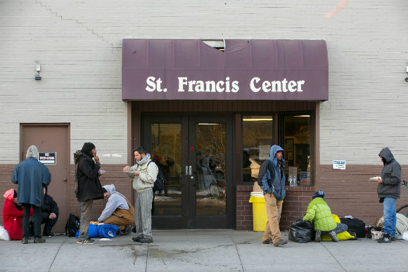 The central neighborhood has a concentration of services for the homeless.