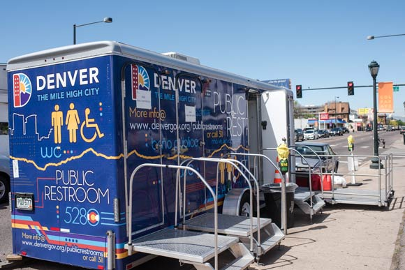 The two mobile units continue to roll on to different locations along the 16th Street Mall and East Colfax Avenue.