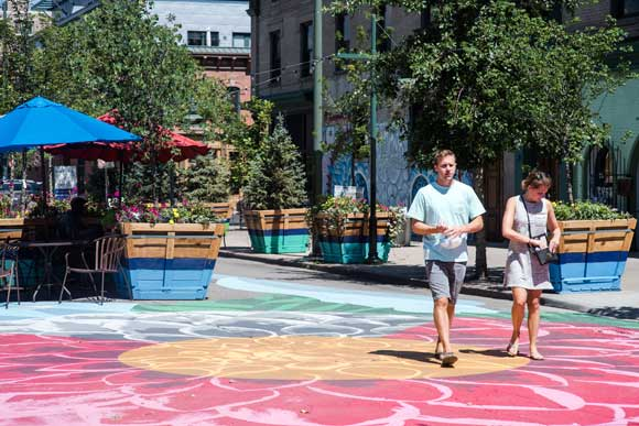 Denver is exploring how it will convert streets into a pedestrian oasis that winds through the city with The Square on 21st.