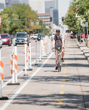"""Even though downtown Denver is probably the most walkable and bikeable part of the city, there are key pinch points where it's difficult to get from one side of the street to the other,"" said Locantore."