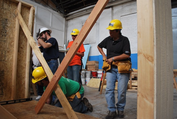 Students getting hands-on learning at Colorado Homebuilding Academy