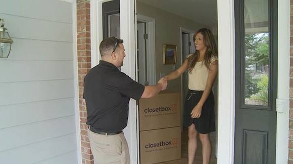 Closetbox picks up items to take to its storage facility.