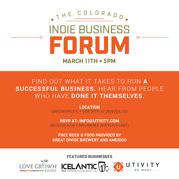 CO Indie Business Forum Flyer