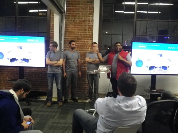 The FooFoBerry team presents their app at gSchool Demo Night.