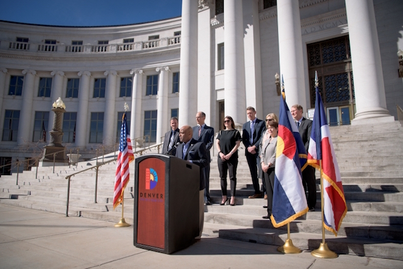 Mayor Hancock announces Denver as the 2017 Solar Decathlon host.
