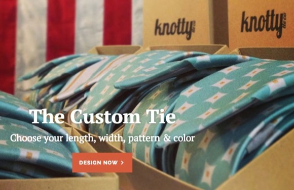 Knotty Tie Co. is breaking ground with its custom-tie website.