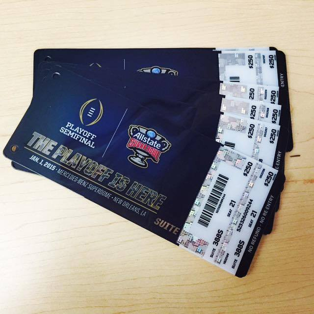 SuiteHop tickets to the Super Bowl.