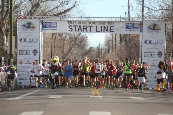 The starting line at the 2013 Turkey Trot.