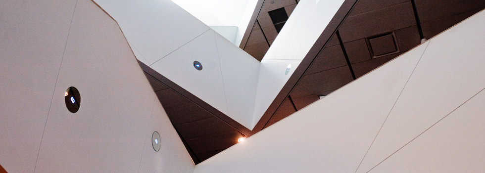 Abstract architecture at the Denver Art Museum in the Golden Triangle