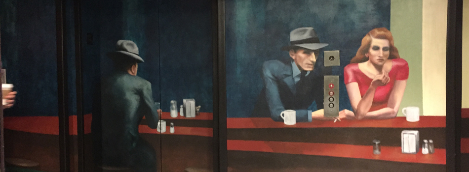Forrest J. Morrison's murals lift The Curtis hotel's elevators